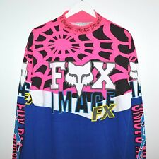 NOS Unworn Vintage 1992 Fox Racing  Image Spider Web Motocross Jersey XL - axo