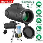 HD Monocular Telescope Night Vision 40X60 Zoom+ Tripod+ Clip For Universal Phone