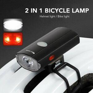 USB Rechargeable Flashlight Bike MTB Light Cycling Helmet Headlight Rear Lamp