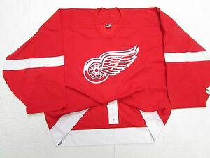 DETROIT RED WINGS AUTHENTIC HOME REEBOK 6100 TEAM ISSUED JERSEY GOALIE CUT 58