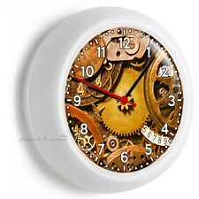 WALL CLOCK EXPOSED GEARS MECHANISM MAN CAVE TV LIVING ROOM BEDROOM HOME NY DECOR