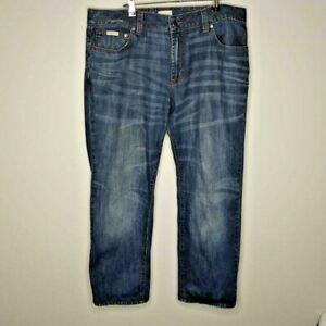 Calvin Klein CK Denim Jeans Blue W38 L36 Straight Distressed 100% Cotton