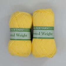 Village Yarn Worsted Weight Yellow 2 Skeins 3oz 183yds Per Skein
