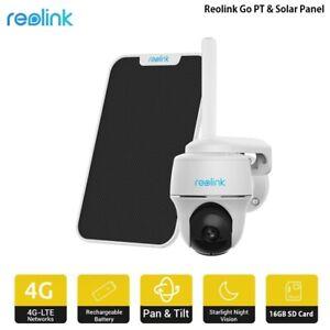 Reolink 3G/4G LTE Batterie Extérieure Caméra Pan Tilt 1080P HD CCTV Go PT+Solar