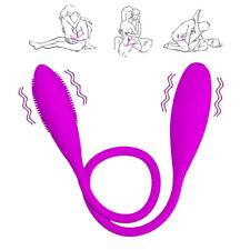 Double_Vibrating Lesbian Sex_Clit G-spot_Vibrator_Vibe_Dildo for Women Men Gay