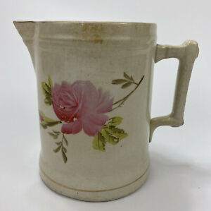 Vintage T.P.C Co. Stone China Ironstone Ewer Pitcher w/ Floral Pattern- Dresden