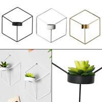 3D Geometric Tea Light Candle Holder Metal Candlestick Wall Mounted Decor zxc