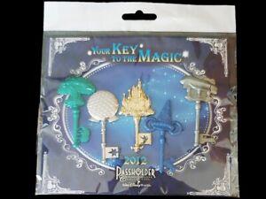 Disney Pin Your Key to the Magic 2012 Passholder 5 Key Park & Monorail Set NIP