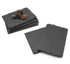 6pc Set Slate Tapas Sushi Cheese Board Table Serving Coaster Placemat Plate Tray