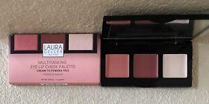 Laura Geller Shades Of Mauve Blush Palette Cream To Powder Trio Eye Lip Cheek