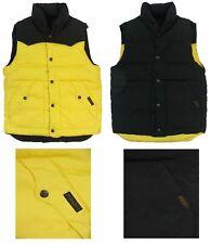 Polo Ralph Lauren Men's Reversible Down Filled Puffer Vest - Black/Yel - SMALL