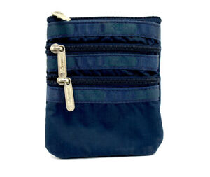 LeSportsac Small Cosmetic Coin Card Purse Wallet Blue