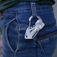 New Multifunction EDC Stainless Steel Key Holder Keychain Ring Clip Tool Outdoor