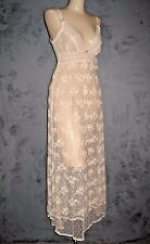 Claire Pettibone Long Night Gown Luxury Lingerie BELINDA Pink LACE XS NWT $179