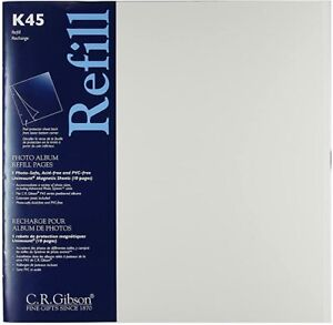 1X CR Gibson K45 Photo Album Refill 5 Unimount Magnetic Sheets Postbound Pages