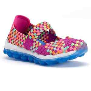 Girls Skechers Sneakers Glitzy Fitz Mary Jane Skech-Air Memory Foam Cushioned