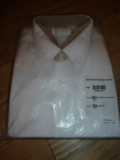 """ROYAL NAVY MANS EXTRA LONG SLEEVE WHITE SHIRT SIZE 44CM/17.5"""" GENUINE RN ISSUE"""