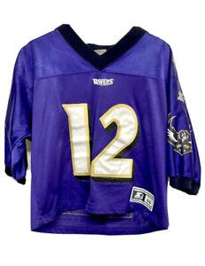 Vtg 90s Starter Vinny Testaverde Baltimore Ravens Autographed SEWN Jersey M