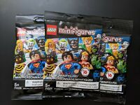 Lego Minifigures DC Super Heroes 71026 Lot of 3 Sealed Blind Bags Unsearched New