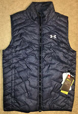 Under Armour UA Coldgear Reactor Full Zip Vest Jacket Blue NEW Men's Medium
