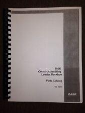 Case 580K Backhoe Parts Book Manual early SN <JJG20000