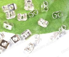 NP2068 200pcs Silver plated Backs Earring Stoppers Finding 5X3MM