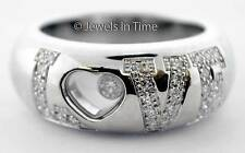Chopard Happy Diamonds Heart Ring 18k White Gold Box/Papers 82/2899-20