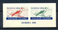 GB LOCAL DAVAAR  ISLAND 1 BLOCK  IMPERF.   1966  EUROPA    **  MNH VF  BIRD