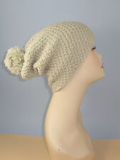 Stampato Maglieria instructions-chunky BIG Pompon DOPPIA Moss Stitch Slouch Cappello