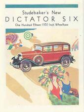1929 Studebaker Dictator Six Brochure Reprint wr0529-F5KHGE
