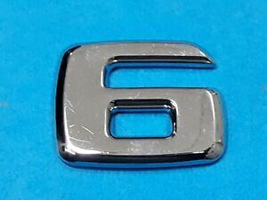 ONE CHROME * 6 * TRUNK NUMBER EMBLEM BADGE FOR MERCEDES BENZ MODEL USE AMG