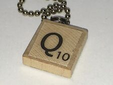 Q for Queen Mother Scrabble Tile Necklace