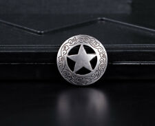 10PCS 2.8 CM ANTIQUE WESTERN SADDLE HEADSTALL STAR CONCHOS RIVETBACK FOR CRAFT