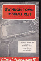 1958/59 SWINDON TOWN V BOURNEMOUTH 10-01-1959 Division 3