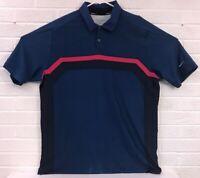 Nike Golf Tour Performance Polo Shirt Short Sleeve Men Size Large Blue