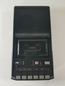Vintage Texas Instruments Black Cassette Player Recorder PHP2700 PLAY ONLY works