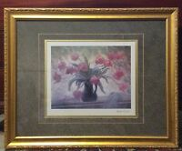 Impressionist Still Life Lithograph by Martha Orant Signed in pencil