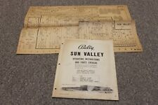 Bally BINGO Machine SUN VALLEY, 1957 Operating Instruction Manual & Schematics