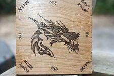MINI Dragon Pendulum  Board HANDMADE -Wicca, Witch, Pagan