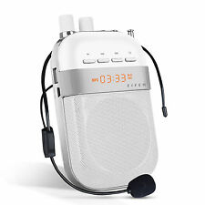 Portable Wireless Voice Amplifier & Microphone with Belt MP3 Player/ FM/ Record