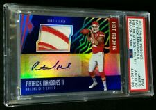 1/1 RC AUTO PATRICK MAHOMES II *PSA 9/10 *TRUE ONE OF ONE *2017 ROOKIE JSY PATCH