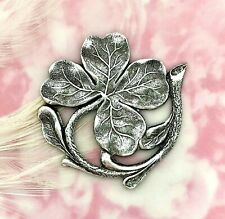 Clover Stamping Finding Lucky (Fa-6051) Antique Silver Shamrock Motif Four Leaf