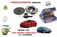 FOR OPEL VAUXHALL ASTRA J + GTC A16XER MARK 6 2009-> CLUTCH KIT + SLAVE CYLINDER