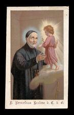 antico santino cromo-holy card S.BERNARDINO REALINO