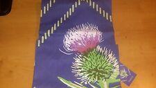 Cotton Drill Apron, thistle design.