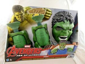New Marvel Avengers Age of Ultron Hulk Muscles and Mask  great childrens fun