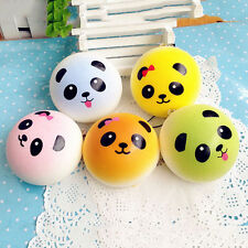 2pcs Panda Squishy Charms Soft Buns Cell Phone Key Chain Bread Straps LAUS