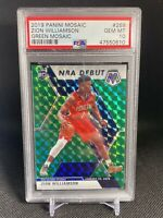 2019-20 Panini Green Mosaic Prizm #269 Zion Williamson RC Rookie PSA 10 GEM MINT