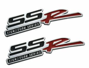 NEW METAL 2X SSR TRUNK badge performance FENDER Emblems chevy fit all car