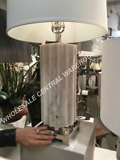 "MODERN MOROCCAN XXL 31"" TABLE LAMP NICKEL METAL CASTROANO LIGHT"